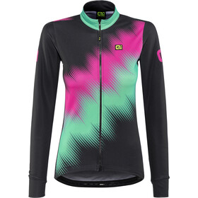 Alé Cycling Solid Pulse Longsleeve Jersey Dam black-magenta-green